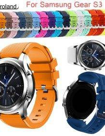 Gear S3 Frontier/Classic Watch Band 22mm Silicone Sport Replacement Watch Men women's Bracelet watches Strap for Samsung Gear S3 Electronics Fashion Watch 58c99d5d65c49cc7bea0c0: Black|blue|Brown|deep blue|deep green|gray|Green|lighet bule|midnight blue|mint green|orange|Orange red|Purple|red|Rose Red|white|yellow
