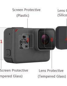 New Tempered Glass Protector Cover Case For Go Pro Gopro Hero 5 6 7 Hero5 Hero6 Hero7 Camera Lens Cap LCD Screen Protective Film Camera dfe6076e1d429c24edcbb2: Lens cap|Set|Tempered Glass