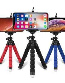 Tripods tripod for phone Mobile camera holder Clip smartphone monopod tripe stand octopus mini tripod stativ for phone Camera shipsfrom: China