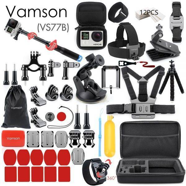 Vamson for Gopro Accessories Set for go pro hero 7 6 5 4 3 kit 3 way selfie stick for Eken h8r / for xiaomi for yi EVA case VS77 Camera dfe6076e1d429c24edcbb2: VS77|VS77A|VS77B|VS77C|VS77D|VS77E|VS77F