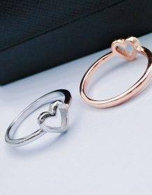 Modyle 2018 New Fashion Rose Gold Color Heart Shaped Wedding Ring for Woman Dropshipping Fashion Jewellery Jewelry Sets 2ced06a52b7c24e002d45d: 10|6|7|8|9