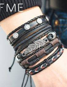 IF ME Vintage Leaf Feather Multilayer Leather Bracelet Men Fashion Braided Handmade Star Rope Wrap Bracelets & Bangles Male Gift Fashion Jewellery Jewelry Sets 8d255f28538fbae46aeae7: BJDY100|BJDY183|BJDY185|BJDY190|BJDY616|BJDY617|BJDY620|BJDY621|BJDY701|BJDY703|BJDY704|BJDY705|BJDY706|BJDY707|BJDY708|FDY1089|FDY1090|FDY1184|FDY1303|FDY1305|FDY1812|FDY1813|FDY1815|FDY985|FDY986|FDY990|FDY991