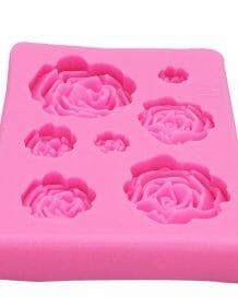 M1023 Rose Flowers silicone mold Cake Chocolate Mold wedding Cake Decorating Tools Fondant Sugarcraft Cake Mold Home & Garden Brand Name: ALIJIAYING