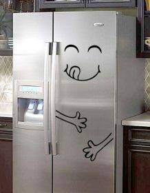 New 4 Styles Smile Face Wall Sticker Happy Delicious Face Fridge Stickers Yummy for Food Furniture Decoration Art Poster DIY PVC Home & Garden color: A|B|C|D