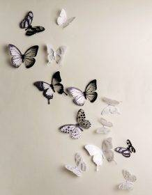 18pcs/lot 3d Crystal Butterfly Wall Sticker Beautiful Butterflies Art Decals Home decor Stickers wedding decoration On the Wall Home & Garden color: 1|2|3|4