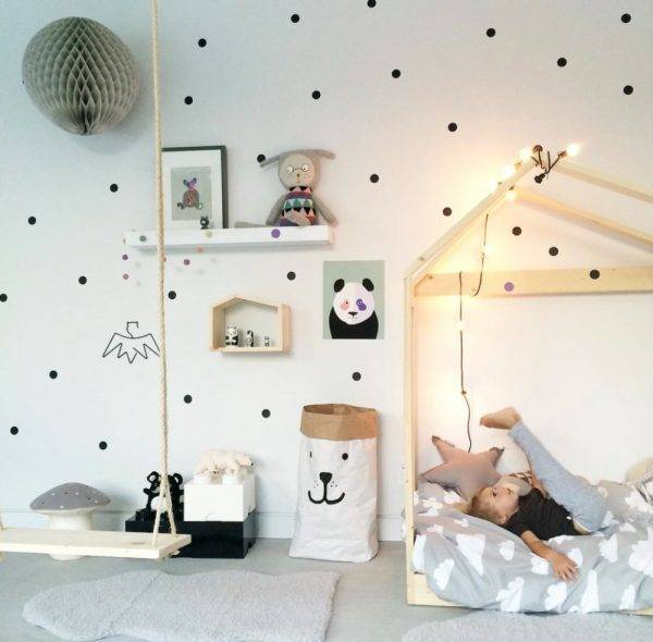 Black Dots Wall Stickers For Kids Room Baby Nursery Stickers Home Decor kids wall sticker Baby Room Children Home Decoration Home & Garden color: Black blush canal blue Dark Grey Gold liac Light Blue Light Grey Mint pea green SLIVER teal YELLOW Pink White