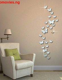 12pcs 3D Mirrors Butterfly Wall Stickers Decal Wall Art Removable Room Party Wedding Decor Home Deco Wall Sticker for Kids Room Home & Garden Style: Modern