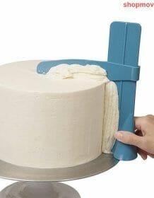 Cake Scraper Smoother Adjustable Fondant Spatulas Cake Edge Smoother Cream Decorating DIY Bakeware Tableware Kitchen Cake Tool Home & Garden color: A|B