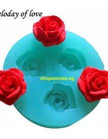 3D Rose flowers chocolate wedding cake decorating tools 3D baking fondant silicone mold used to easily create poured sugar T0157 Home & Garden Cake Tools Type: Moulds