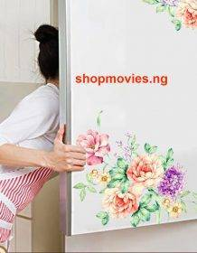 Colorful Flowers 3D Wall Stickers Beautiful Peony Fridge Stickers Wardrobe Toilet Bathroom Decoration PVC Wall Decals/Adhesive Home & Garden Style: Pastoral