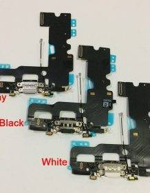 For iPhone 7 Original New Charging Port USB Charger Dock Connector with Microphone Antenna Flex Cable Replacement Parts Apple iOS Phones Mobile Phones Phones & Tablets Smartphone color: Black|grey|White