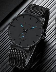Mens Sports Watches Top Brand Luxury Ultra Thin Casual Waterproof Sport Watch Quartz Full Steel Men Watch Relogio Masculino Watch color: Black blue|Black Rose Gold|Blue|Rose