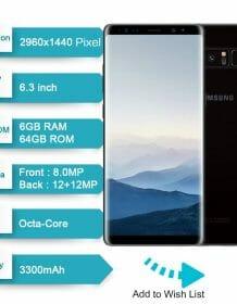 Original Samsung Galaxy Note 8 6.3 inch Octa Core 6GB RAM 64GB ROM Dual Back Camera 12MP 3300mAh Unlocked Smart Mobile Phone Android Phones Mobile Phones Phones & Tablets Samsung Smartphone bundle: N950F Set|N950U Set