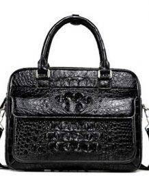 LINSHE crocodile A briefcase male business handbag In the workplace business The crocodile leather bag Genuine leather Bags Fashion Laptop Bags Laptop Messenger & Shoulder Bags Women's Clutch Handbags Women's Crossbody Handbags Women's Fashion Women's Handbags Women's Shoulder Handbags Women's Top-Handle Handbags color: Black