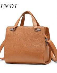 XINDI Genuine Leather Bag brand Women Handbags Bags For Women High Quality Shoulder Crossbody Bag design Workplace charm Totes Bags Fashion Laptop Bags Laptop Messenger & Shoulder Bags Women's Clutch Handbags Women's Crossbody Handbags Women's Fashion Women's Handbags Women's Shoulder Handbags Women's Top-Handle Handbags color: Black|BROWN