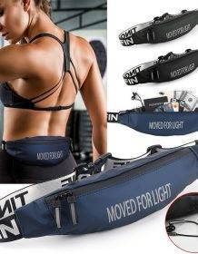 SHUJIN Unsex Fanny Pack Black Waterproof Money Belt Bag Men Women Sports Travel Wallet Belt Male Waist Bags Case for Phone Bags Fashion Men bags Men handbag Purses & Wallets color: 1|2|3