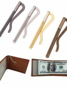 1Pc Metal Bifold Money Clip Bar Wallet Replace Parts Spring Clamp Cash Holder Bags Fashion Men bags Men handbag Purses & Wallets color: A|B|C|D