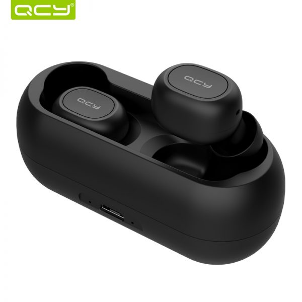 QCY qs1 TWS 5.0 Bluetooth headphone 3D stereo wireless earphone with dual microphone Audio Audio Electronics Electronics Head phone Headphones & Headsets color: Black|White
