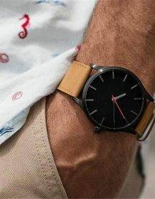 2019 NEW Luxury Brand Mens Watches Sport Watch Men's Clock Army Military Leather Quartz Wrist Watch Relogio Masculino Electronics Fashion Watch color: Black black white brown black brown white