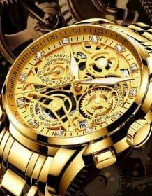 Nektom 2019 Men Sports Watch Mens Watches Top Brand Luxury Gold Big Male Wristwatch Man Quartz Men's Luxury Sports Watches Electronics Fashion Watch color: Bronze|multicolor|Rose|Pink