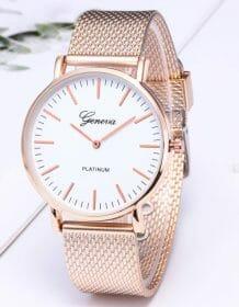 Geneva Luxury Watch Simple Ultra-thin Mesh Gold Stainless Steel Watches Unisex Business Fashion Men Women Clock Reloj Mujer часы Electronics Fashion Watch color: Black|Gold black|Gold white|Silver