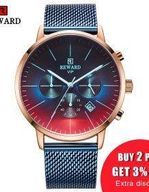 2020 New Fashion Color Bright Glass Watch Men Top Luxury Brand Chronograph Men's Stainless Steel Business Clock Men Wrist Watch Electronics Fashion Watch color: Leather Bk Gold Box leather black Leather Black Box Leather Black Gold Leather Blue Leather Blue Box Leather Brown Leather Brown Box Leather Gold Leather Gold Box Steel Black Steel Black Box Steel Black Gold Steel Black Gold Box Steel blue Steel Blue Box Steel Gold Steel Gold Box steel silver Steel Silver Box