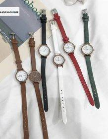 Women's Fashion White Small Watches 2019 Ulzzang Brand Ladies Quartz Wristwatch Simple Retr Montre Femme With Leather Band Clock Electronics Fashion Watch color: Black black white BROWN Gold all brown Gold black Gold brown gold green Gold red Gold white Green red Pink White
