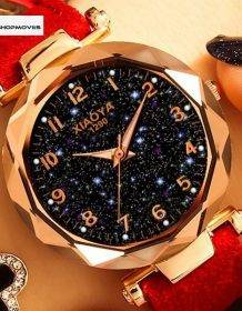 Fashion Women Watches 2019 Best Sell Star Sky Dial Clock Luxury Rose Gold Women's Bracelet Quartz Wrist Watches New Dropshipping Electronics Fashion Watch color: Black Blue BROWN Green grey Purple red Pink White