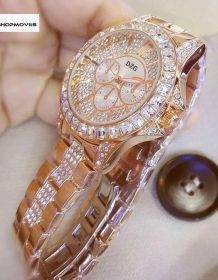 Fashion Women Watch with Diamond Watch Ladies Top Luxury Brand Ladies Casual Women's Bracelet Crystal Watches Relogio Feminino Electronics Fashion Watch color: Gold|Rose|Silver