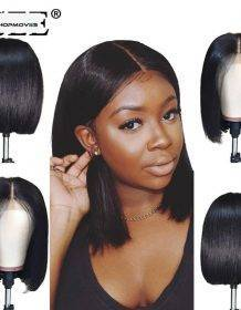 Straight Short Human Hair Wigs 360 Lace Frontal Wig Straight Bob Lace Front Wigs ISEE HAIR Malaysian Lace Front Human Hair Wigs Fashion Human Hair Wigs 5d87c5061aba3012870240: 10inches|12inches|14inches|16inches|8inches