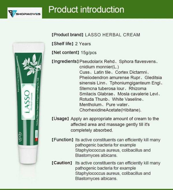 YIGANERJING Lasso Skin Psoriasis Cream Dermatitis Eczematoid Eczema Ointment Treatment Psoriasis Natural Skin Care Cream 15g Beauty & Health size: With box|Without box