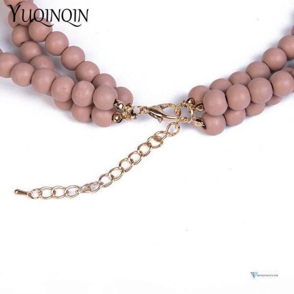 Big Long Vintage Bead Necklaces Resin Acrylic Statement Multi-layer Chain Necklace for Women Fashion Jewelry Necklaces Pendants Beaded Necklaces Chokers Crystal Necklaces Jewelry Necklaces 8d255f28538fbae46aeae7: pink