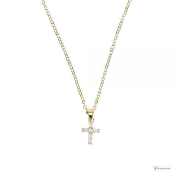 2020 High quality S925 sterling pave AAA cz tiny cute cross pendant necklaces For Women Mini Charm Pendants Bijoux Jewelry Beaded Necklaces Chokers Crystal Necklaces Jewelry Necklaces 8d255f28538fbae46aeae7: gold color|Platinum Plated|rose gold color