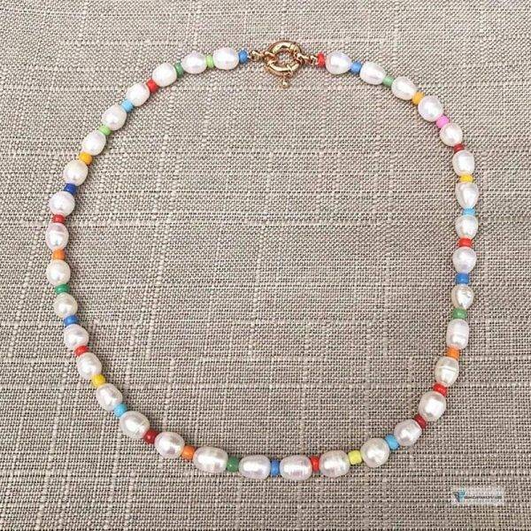 Baroque Natural Pearl Necklace 100% Handmake Beaded Statement Necklace for Women Girls Summer Bohemia Jewelry Gifts Dropshipping Beaded Necklaces Chokers Crystal Necklaces Jewelry Necklaces 8d255f28538fbae46aeae7: As Picture