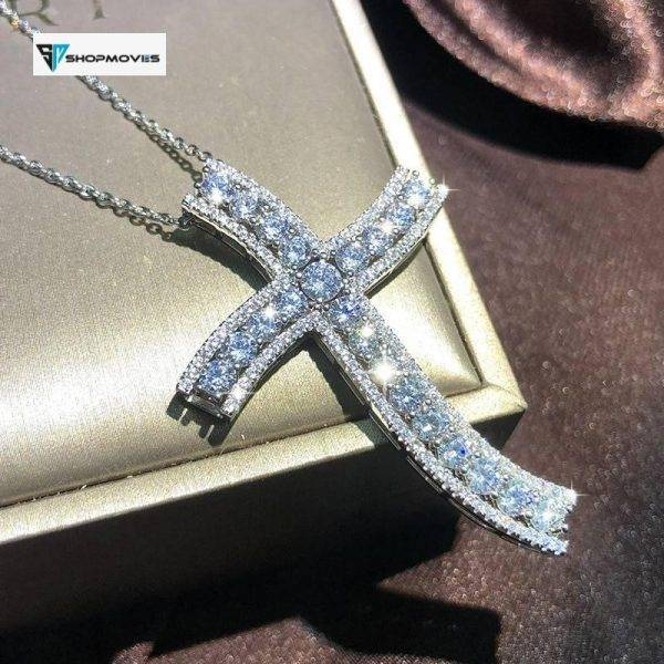 Bling Cross Pendant Silver Color Statement Necklace with Zircon StoneLong Chain Necklace for Women Man Religious Fashion Jewelry Beaded Necklaces Chokers Crystal Necklaces Jewelry Necklaces 8d255f28538fbae46aeae7: 1|10|11|12|13|2|3|4|5|6|7|8|9
