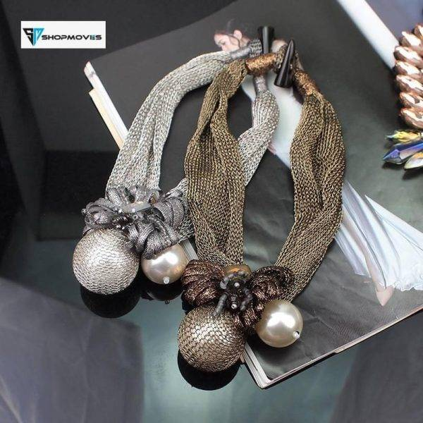 MANILAI Big Simulated Pearl Pendants Necklaces For Women Crystal Beads Ball Flower Statement Necklace Jewelry Handmade Choker Beaded Necklaces Chokers Crystal Necklaces Jewelry Necklaces 8d255f28538fbae46aeae7: Black Coffee|Black Necklaces|Brown Necklaces|Gold Necklaces|Grey Necklaces