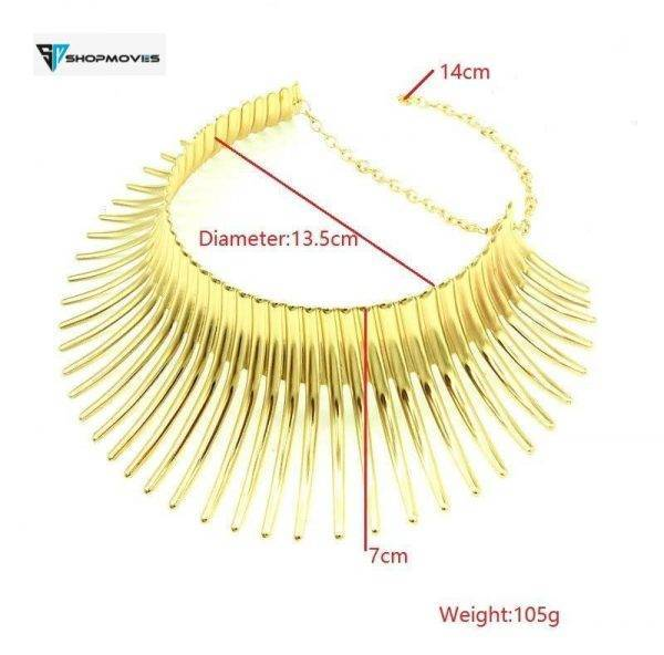 KMVEXO Fashion Metal Big Torques Statement Necklaces For Women 2017 Large Thorn Collar Choker Necklace Boho Steampunk Jewelry Beaded Necklaces Chokers Crystal Necklaces Jewelry Necklaces 8d255f28538fbae46aeae7: gold|silver