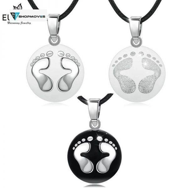 Eudora Pregnancy bola harmony Pendant White & Black feet harmony ball Necklace for pregnant woman pregnancy new mom gift B224 Beaded Necklaces Charm Necklaces Chokers Jewelry Necklaces 8d255f28538fbae46aeae7: Black-N14NB224-7|N14NB224-5|N14NB224-6