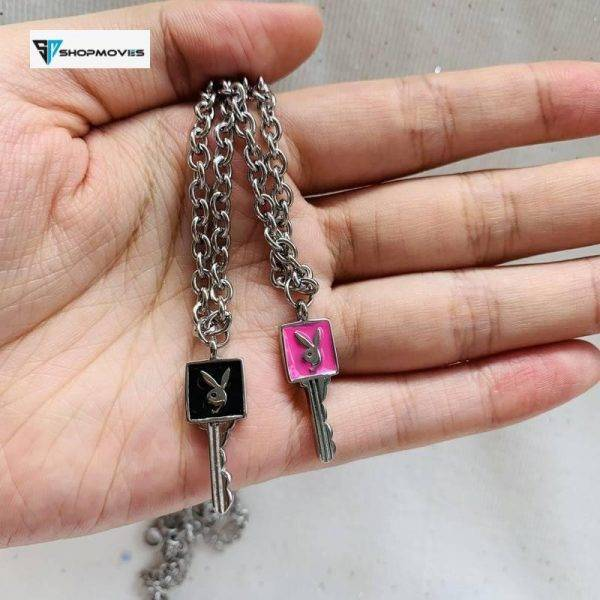 New Ins Hot Stainless Steel Gothic Lock Choker Black Pink Rabbit Necklace Rabbit Pendant Necklaces For Women Fashion Jewelry Beaded Necklaces Charm Necklaces Chokers Jewelry Necklaces 8d255f28538fbae46aeae7: black pink