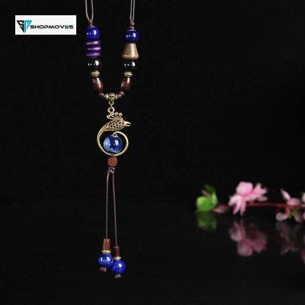 Ceramic Vintage Necklace for Women Phoenix Pendant Necklace Wholesale Green Ethnic Rope Chain Necklaces Aesthetic Jewelry 2020 Beaded Necklaces Charm Necklaces Chokers Jewelry Necklaces 8d255f28538fbae46aeae7: blue|green|red