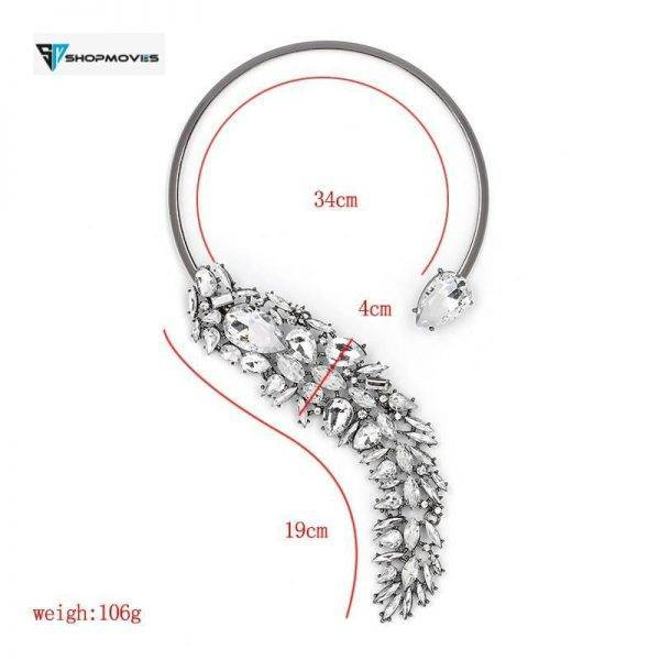 5 Colors Elegant Crystal bijoux Choker Necklace Torques for women Party Evening Luxury JURAN Fashion Jewelry Accessories Beaded Necklaces Charm Necklaces Chokers Jewelry Necklaces 8d255f28538fbae46aeae7: black|blue|Multi|red|white