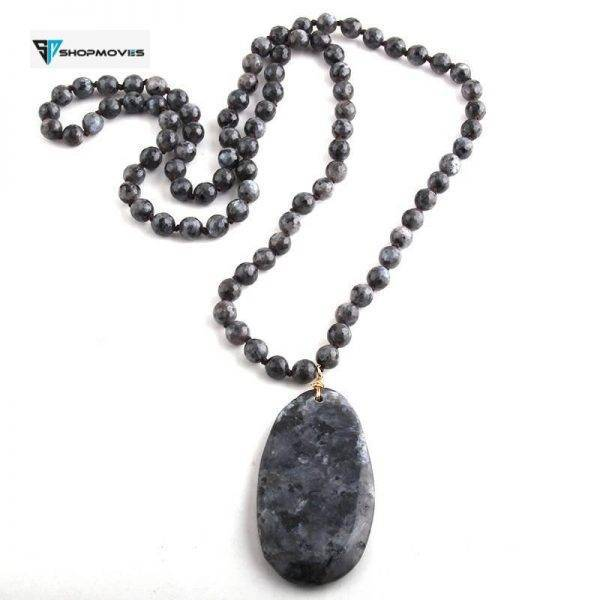 RH Fashion Jewelry Natural Beads Long Knotted Semi Precious Pendant Necklaces For Women Bead necklace Beaded Necklaces Charm Necklaces Chokers Jewelry Necklaces 8d255f28538fbae46aeae7: Amazonite|black|Brown|Gray|Orange|white