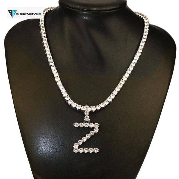 5mm Zircon Tennis Letter Necklaces Hip Hop Jewelry Tennis Chains Necklace Jewelry Initial Necklace Letter Necklace For Men/Women Bracelets Charm Necklaces Customized Necklaces Jewellery Jewelry Necklaces 8d255f28538fbae46aeae7: gold necklace|silver necklace