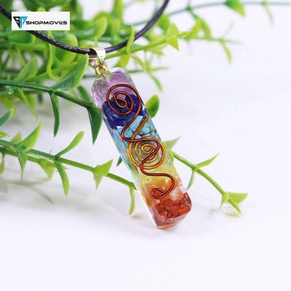 7 Chakra Energy Pendant Orgonite Necklace Rainbow Crystal Pendant Yoga Meditation Necklace Resin Jewelry For Women Men Crystal Necklaces Customized Necklaces Jewelry Necklaces Brand Name: OneQuarter