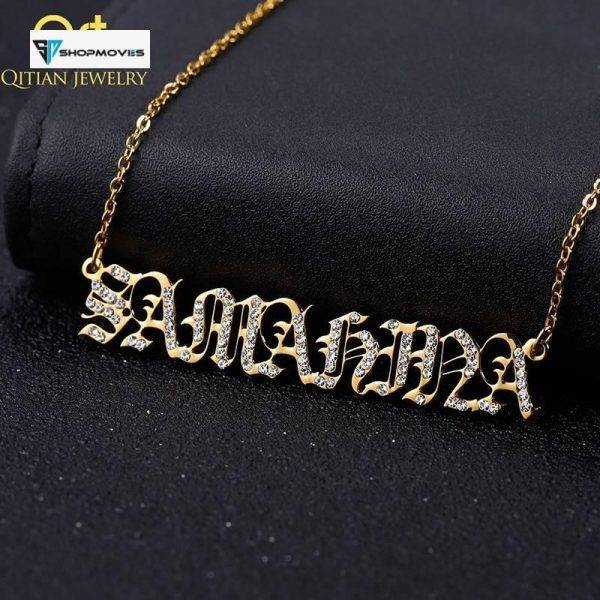 Personalise Custom Name Old English Crystal Necklace&Pendant Custom Zircon Letter Iced Out Necklace For Women Jewelry Gifts Crystal Necklaces Customized Necklaces Jewelry Necklaces ba2a9c6c8c77e03f83ef8b: 40cm|45cm|50cm