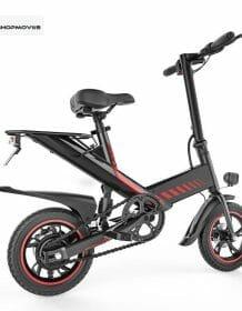 48V 7.5Ah 400W Aluminium Alloy Smart E Bike 14″ Rear Suspension Mini Foldable Electric Bicycle Bike 3 Colors Electric Bicycle Electronics color: Black 14 Inch|Red 14 Inch