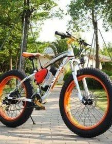 Factory supply 350w motor 26 inch electric fat bike 36v electric bike 26 inch fat ebike Electric Bicycle Electronics color: Black green|Black orange|White blue|White orange