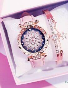 Women Starry Sky Watch Luxury Rose Gold Diamond Watches Ladies Casual Leather Band Quartz Wristwatch Female Clock zegarek damski Electronics Fashion Watch color: Beige|Black|Blue|BROWN|Green|grey|Purple|red|Pink