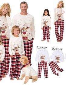 2020 Family Christmas Pajamas Set Deer Print Adult Women Kids Family Matching Clothes Xmas Family Sleepwear 2PCS Sets Top+Pants Baby Kid Toys Infant Toys size: Father 3XL|Father L|Father M|Father S|Father XL|Father XXL|Kids 10T|Kids 12T|Kids 14T|Kids 2T|Kids 3T|Kids 4T|Kids 5T|Kids 6T|Kids 8T|Mother 3XL|Mother L|Mother M|Mother S|Mother XL|Mother XXL