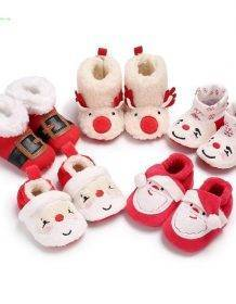 2020 New Christmas Baby Shoes Baby Boys Girls Winter Warm Santa Claus First Walkers Cute Xmas Baby Boots DS9 Baby Kid Toys Infant Toys color: A|B|C|D|random color socks